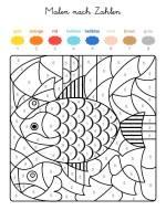 Ausmalbild Malen nach Zahlen Fische ausmalen kostenlos ...