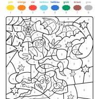 Ausmalbild Malen nach Zahlen Geister ausmalen kostenlos ...