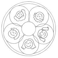 Kostenlose Malvorlage Mandalas Mandala Kinder zum Ausmalen