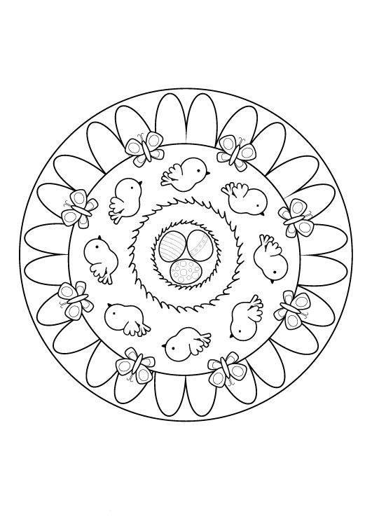 Kostenlose Malvorlage Mandalas Oster-Mandala zum Ausmalen
