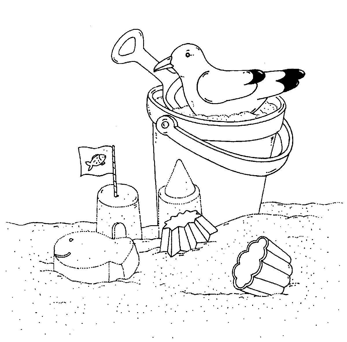 Malvorlage Sandspielzeug Coloring and Malvorlagan
