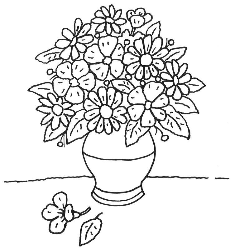Pin Malvorlagen Ausmalbilder Blumenvase Ausmalen