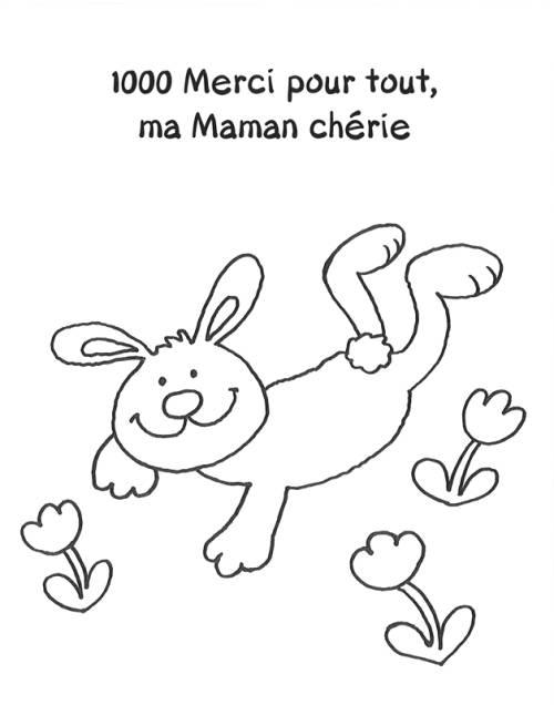 Kostenlose Malvorlage Muttertag Muttertagsdank Hase auf