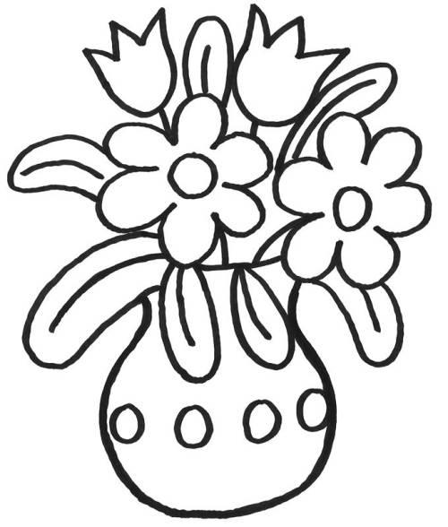 Malvorlage Blumenvase