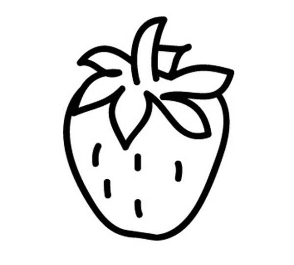 Kostenlose Malvorlage Obst und Gemse Erdbeere zum