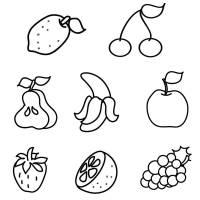 Kostenlose Malvorlage Obst und Gemüse Obst zum Ausmalen ...