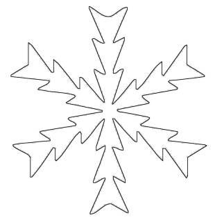 Kostenlose Malvorlage Schneeflocken und Sterne Kostenlose