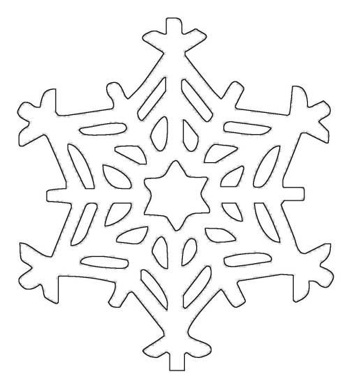 Schneeflocke Malvorlage