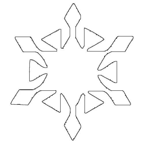 Malvorlage Schneeflocke