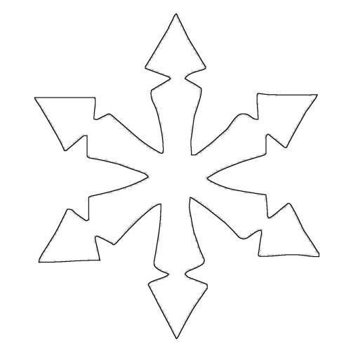 Kostenlose Malvorlage Schneeflocken und Sterne Stern 7
