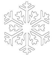 Ausmalbild Schneeflocken und Sterne Schneeflocke 13 ...