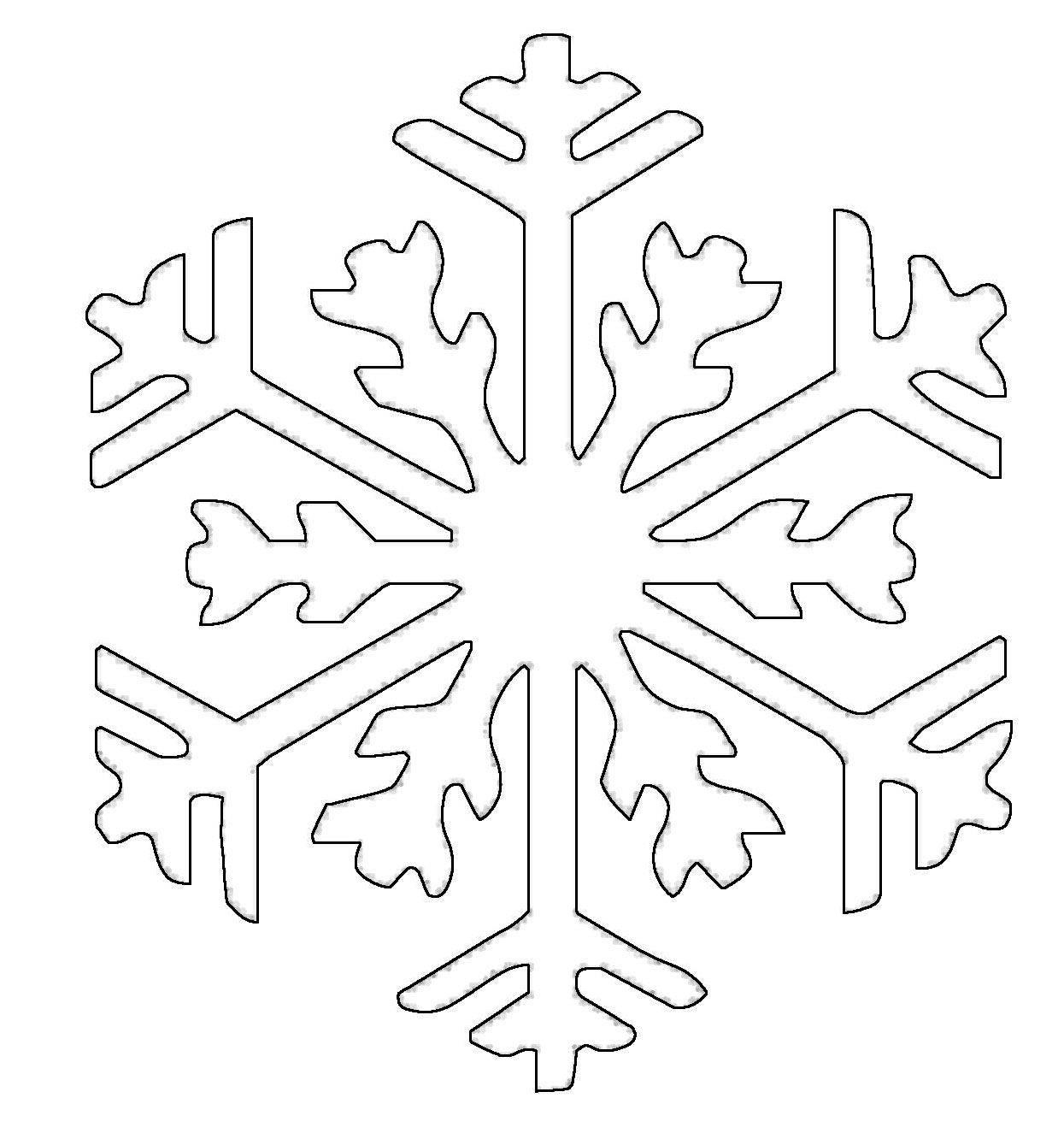 Ausmalbild Schneeflocken und Sterne Schneeflocke 13