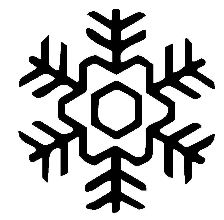 Ausmalbild Schneeflocken und Sterne Schneeflocke 14