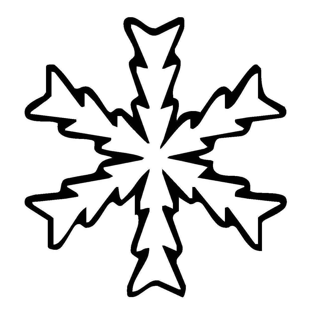 Ausmalbild Schneeflocken und Sterne Schneeflocke 16