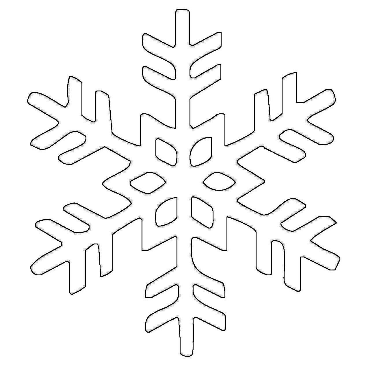 Ausmalbild Schneeflocken und Sterne Schneeflocke 20