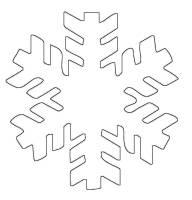Ausmalbild Schneeflocken und Sterne Schneeflocke 3 ...