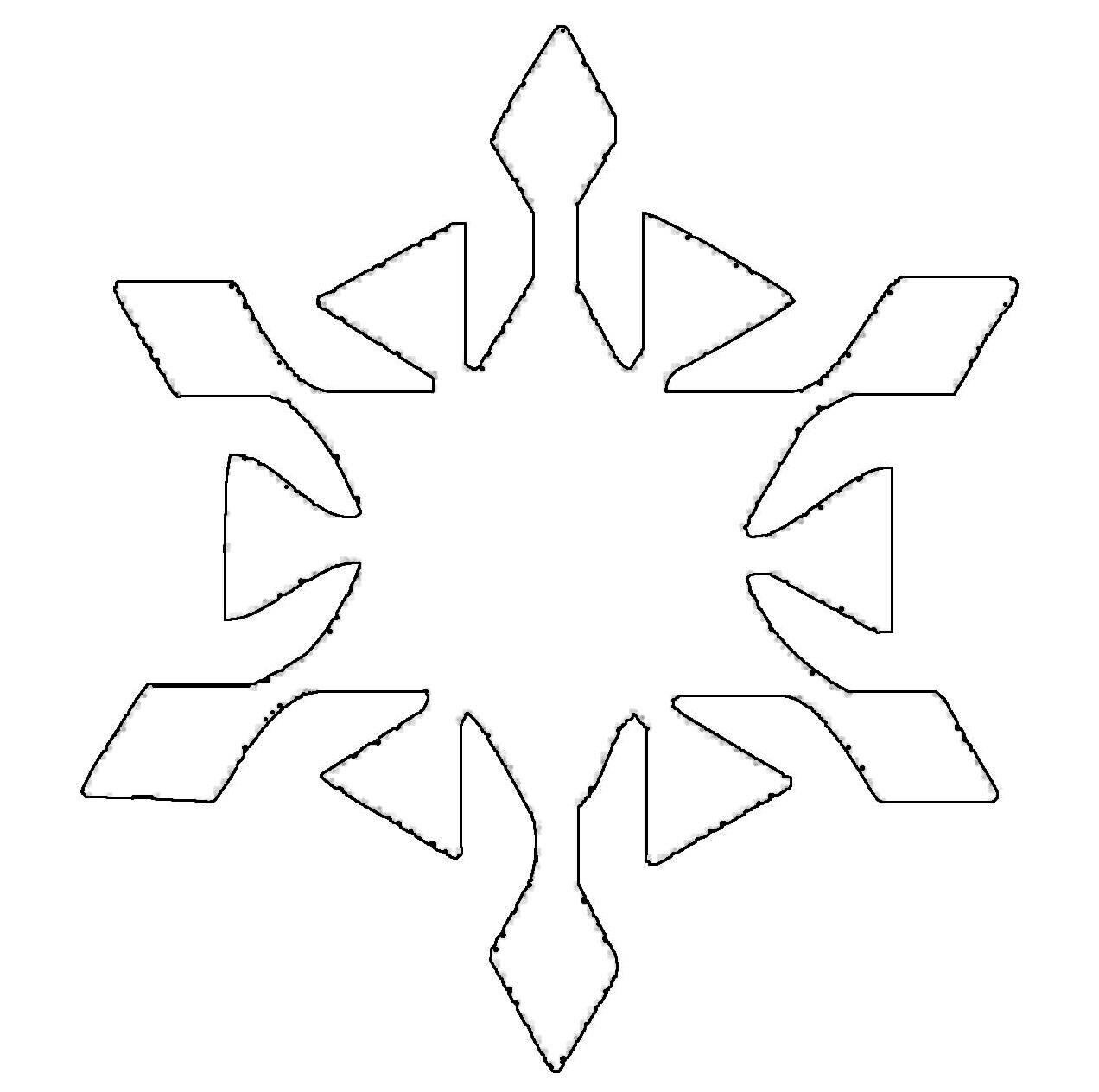 Ausmalbild Schneeflocken und Sterne Schneeflocke 5