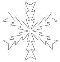Kostenlose Malvorlage Schneeflocken und Sterne ...
