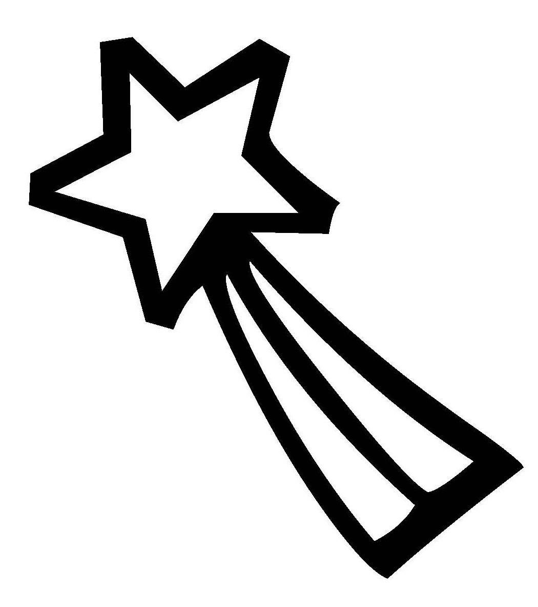 Kostenlose Malvorlage Schneeflocken und Sterne Stern 2