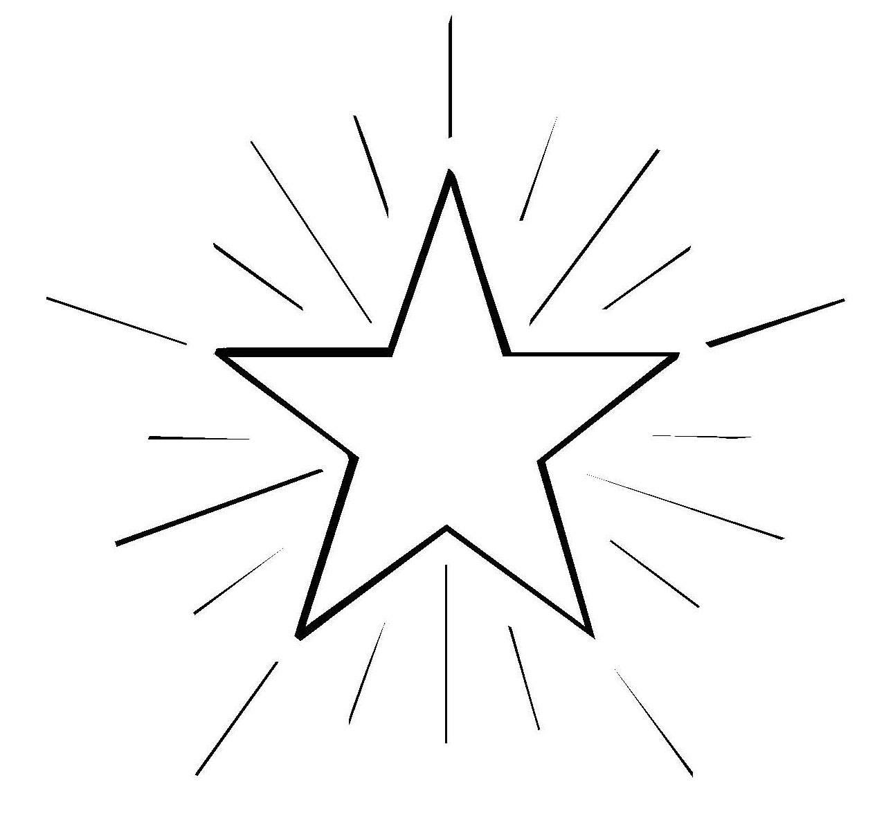 Ausmalbild Schneeflocken und Sterne Stern 4 kostenlos