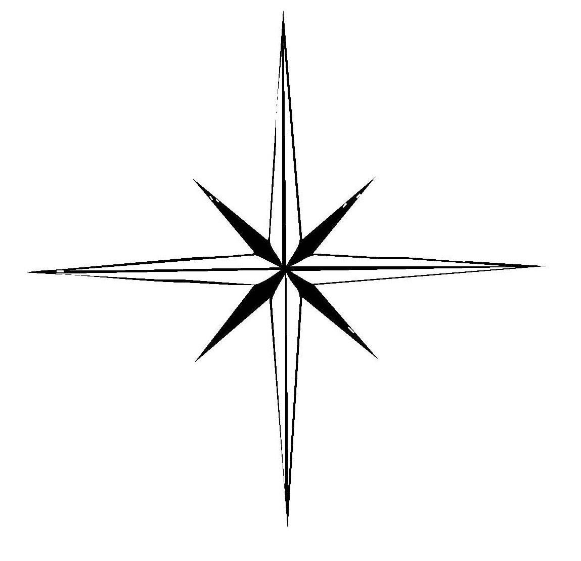 Kostenlose Malvorlage Schneeflocken und Sterne Stern 5