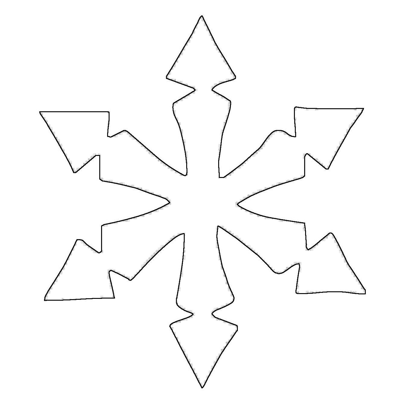 Ausmalbild Schneeflocken und Sterne Stern 7 kostenlos