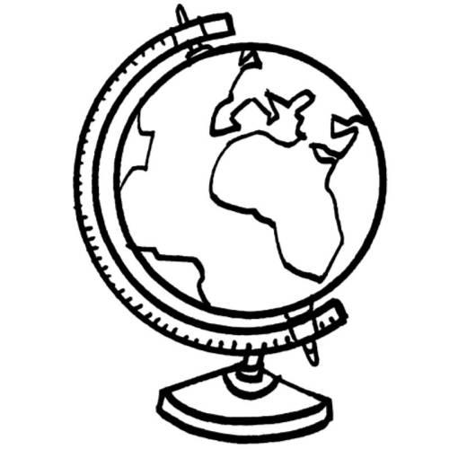 Kostenlose Malvorlage Schule Globus zum Ausmalen