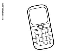 Ausmalbild Schule Handy kostenlos ausdrucken