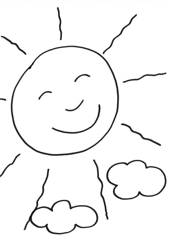 Ausmalbild Sommer Sonne ausmalen kostenlos ausdrucken