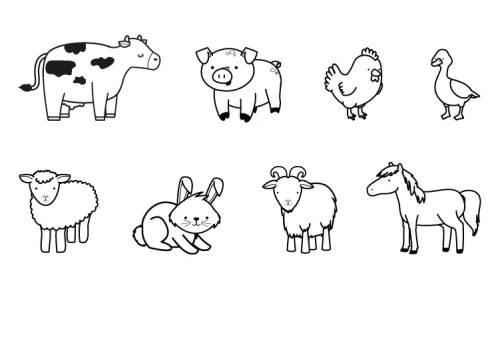 Kostenlose Malvorlage Tiere Bauernhoftiere Zum Ausmalen