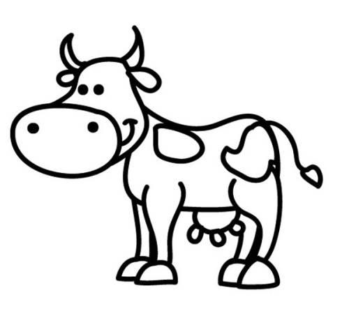 Kostenlose Malvorlage Tiere Kuh zum Ausmalen zum Ausmalen