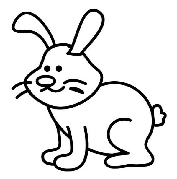 Ausmalbild Tiere Hase zum Ausmalen kostenlos ausdrucken