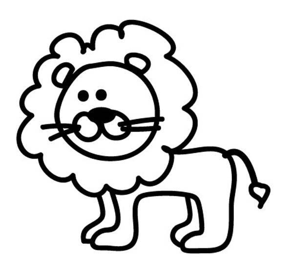 Kostenlose Malvorlage Tiere Löwe zum Ausmalen zum Ausmalen