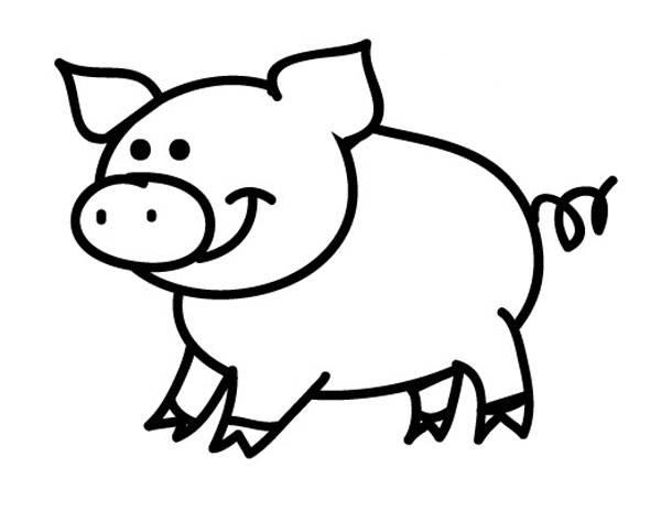 Kostenlose Malvorlage Tiere Schwein zum Ausmalen zum Ausmalen