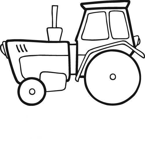 Kostenlose Malvorlage Transportmittel Traktor zum Ausmalen