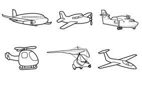 Kostenlose Malvorlage Transportmittel Flugzeuge zum ...
