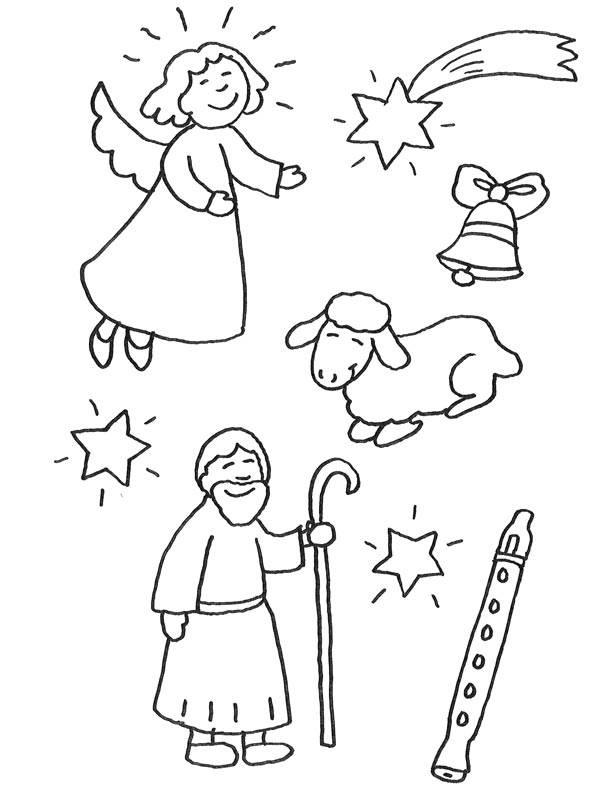 Kostenlose Malvorlage Weihnachten Weihnachtsfiguren zum