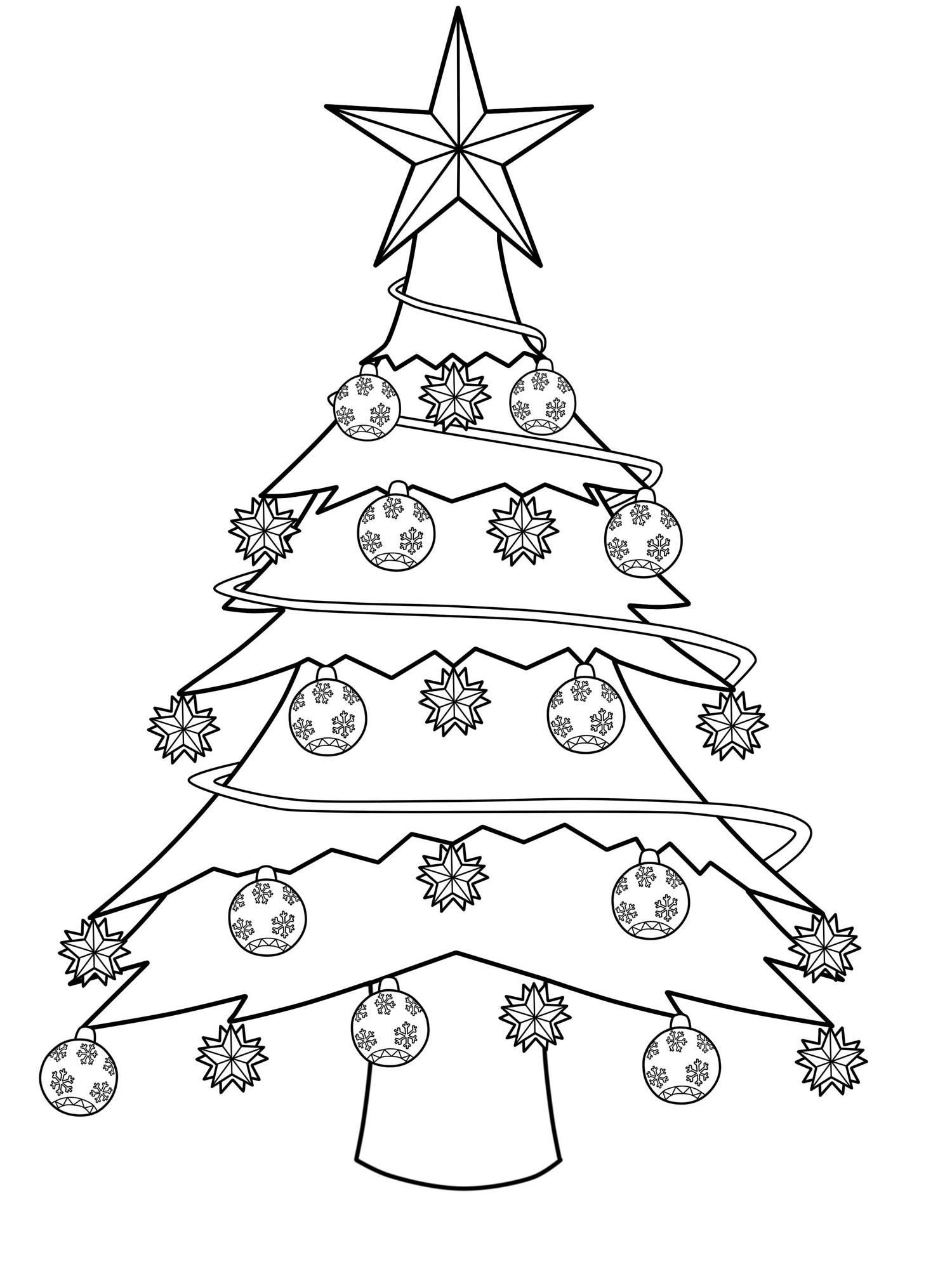 Malvorlage Tannenbaum Einfach Top Kostenlos Färbung