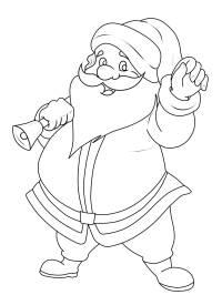 ausmalbilder weihnachtsmann mit schlitten