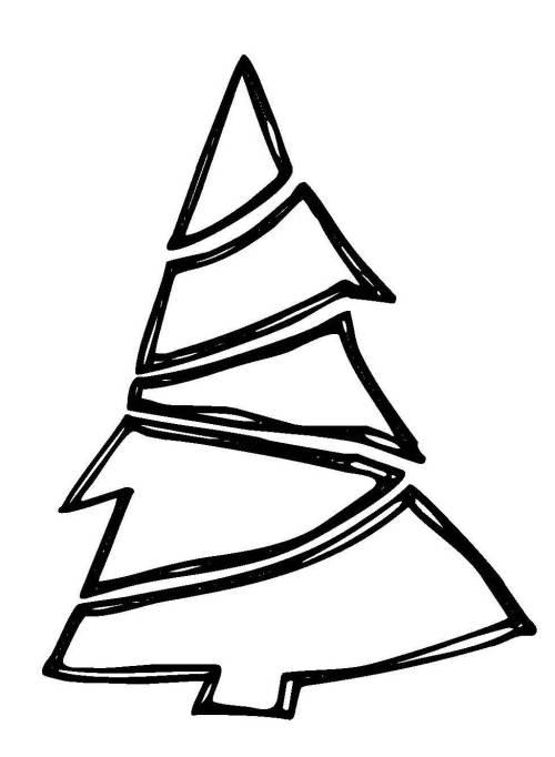 Kostenlose Malvorlage Weihnachten Weihnachtsbaum mit