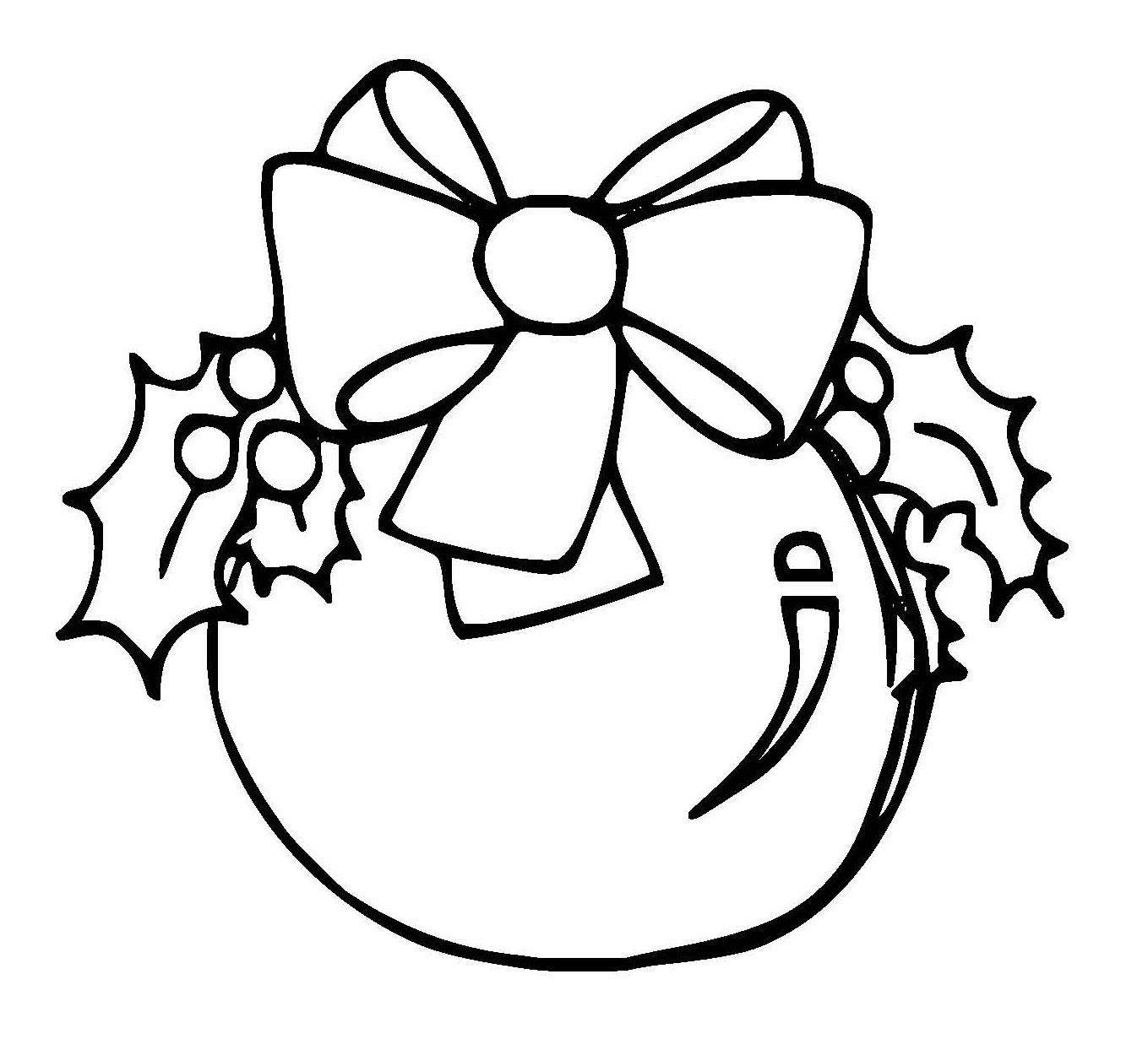 Kostenlose Malvorlage Weihnachten Große Christbaumkugel