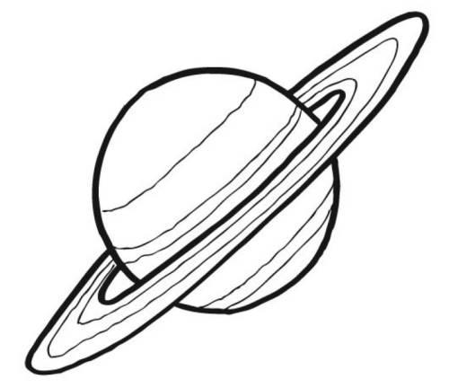 Kostenlose Malvorlage Außerirdische und das Weltall