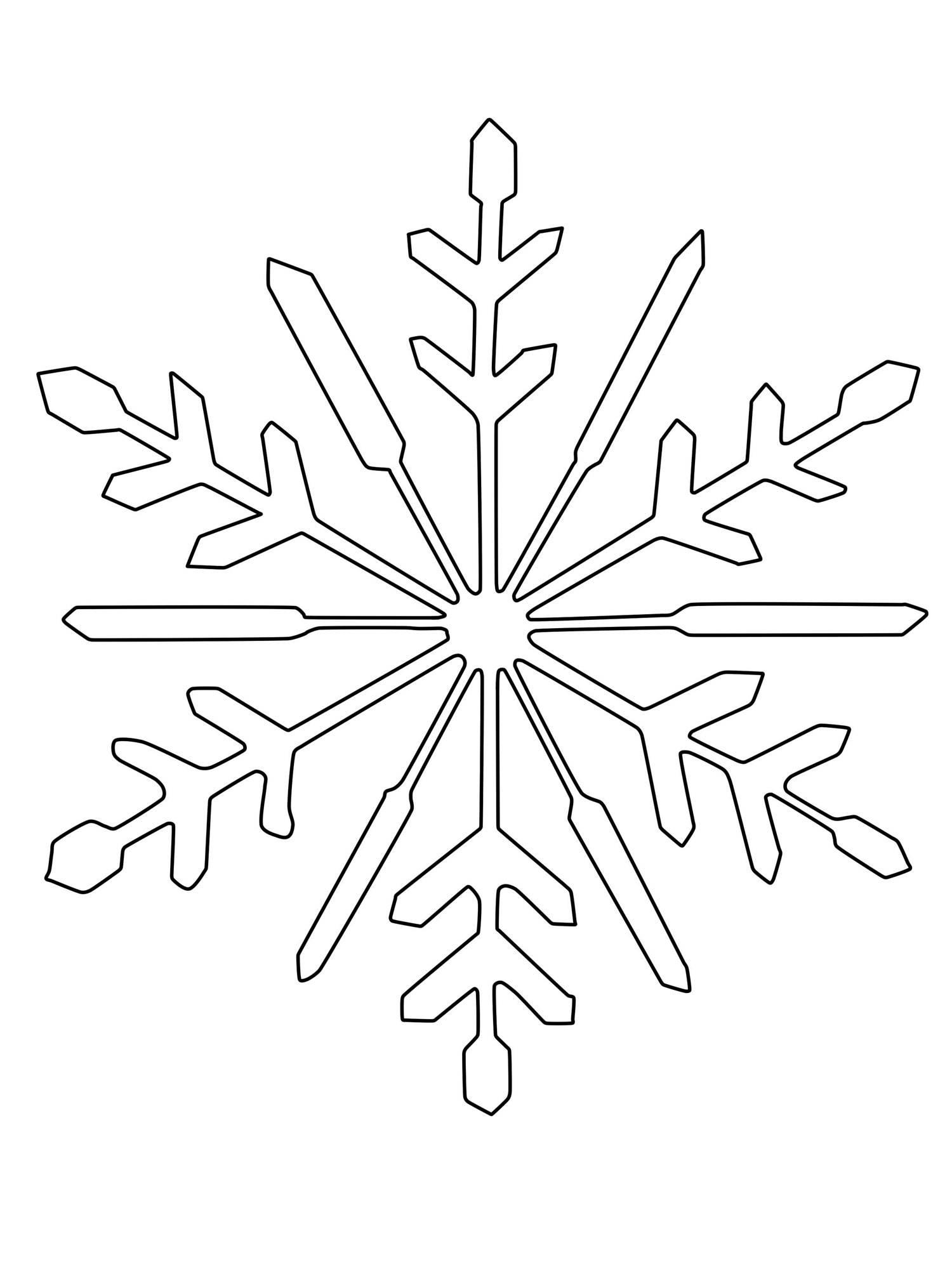 Ausmalbild Schneeflocken Und Sterne Schneeflocke Zum