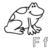 Kostenlose Malvorlage Buchstaben lernen: Ausmalbild F zum ...