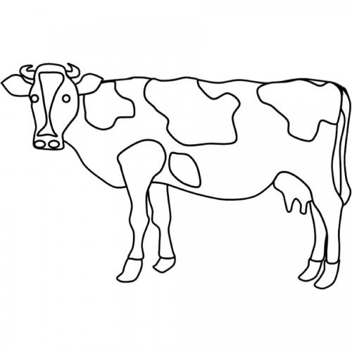 Kostenlose Malvorlage Tiere Ausmalbild Kuh zum Ausmalen