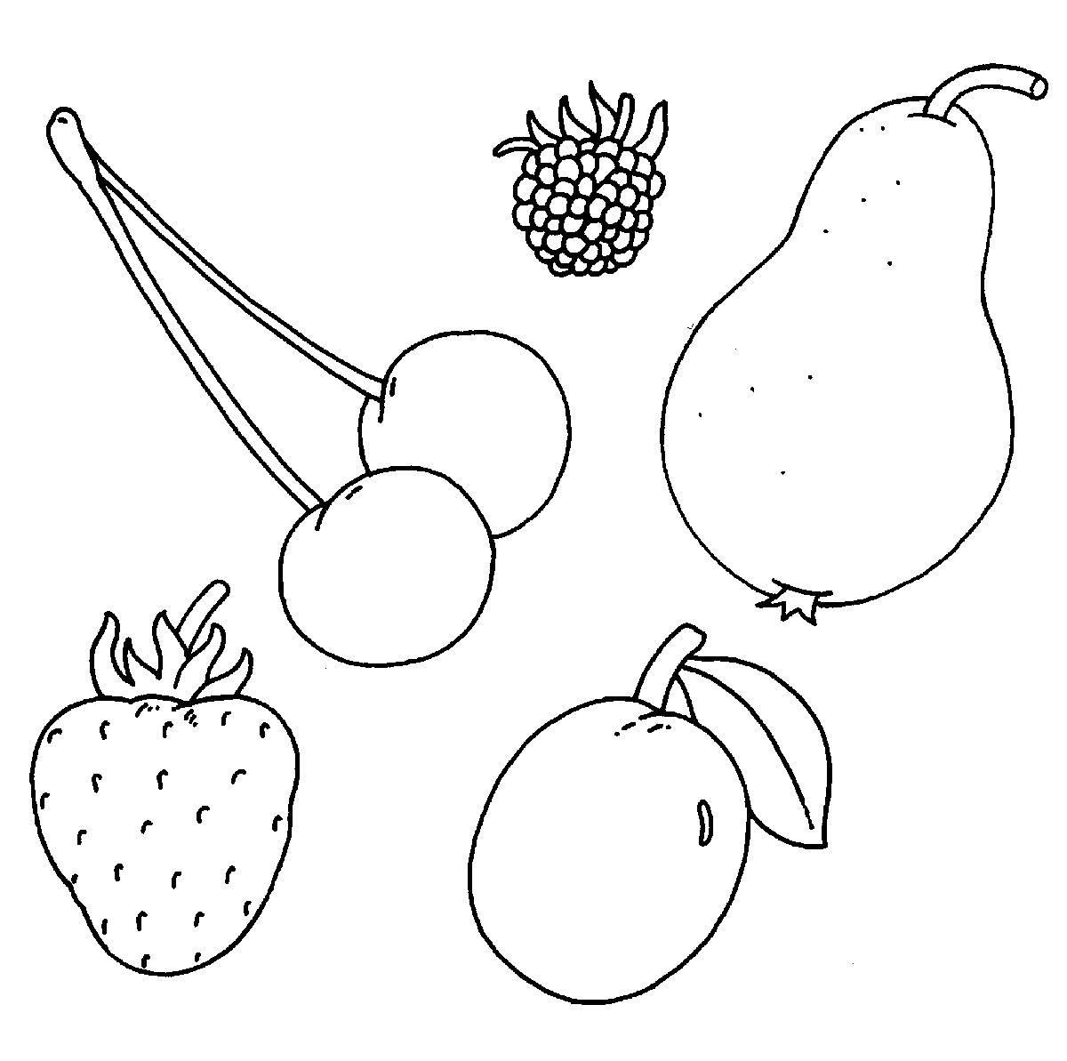 Kostenlose Malvorlage Bauernhof Obst auf dem Bauernhof