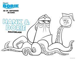 Kostenlose Malvorlage Findet Dorie Findet Dorie Hank ...