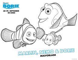 Kostenlose Malvorlage Findet Dorie Findet Dorie Marlin ...