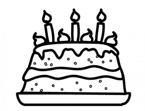 Kostenlose Malvorlage Geburtstag Geburtstagstorte zum