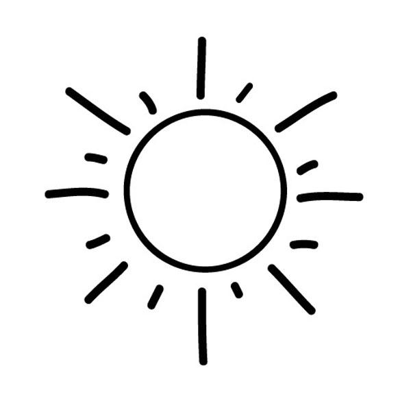 Kostenlose Malvorlage Geburtstag Sonne zum Ausmalen zum